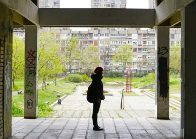 On the breadline, photos from the set, Belgrade. Courtesy of the artist
